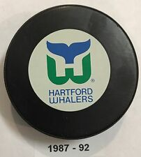 HARTFORD WHALERS Small Logo Ziegler Official Trench Game Hockey Puck 1987-92