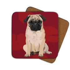 Leslie Gerry LGCOA035 Single Coaster Pug Dog