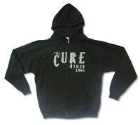 Cure 2008 Logo Black Zip Up Sweatshirt Hoodie New Official Band Merch