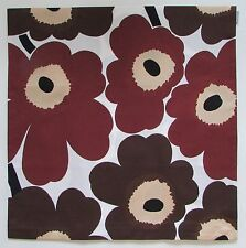 "Marimekko Brown Unikko Pillow Cover 19"" New"