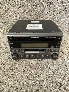 2003 2004 Subaru Forester 6 Disc CD Cassette Tape Player Radio P127 OEM LKQ