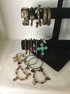 Lot Of 16 Vintage To Now ~ Bracelets~ Beaded~ Fall~ Bangles ~ Owl ~ Eagle