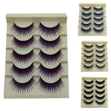 LIGHTWEIGHT COLORED FALSE EYELASHES THICK LONG NATURAL MAKEUP LASHES EXTENSION