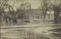 Newmarket NH Silk Mill c1910 Real Photo Postcard