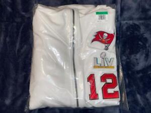 Tom Brady Super Bowl 55 LV Media Day Diamond Hoodie Nike Tampa Bay Buccaneers XL