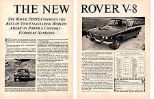 1970 ROVER 3500S  ~  ORIGINAL 2-PAGE PRINT AD