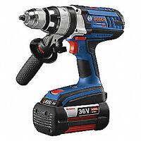 """BOSCH Hammer Drill/Driver,36.0V,1/2"""" Chuck Sz, HDH361-01"""