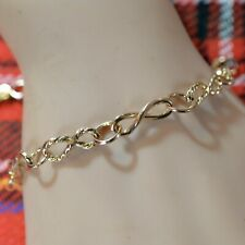 9 ct GOLD second hand twisted link bracelet