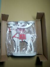 Partylite Alpine Chalet White Reindeer Tealight Candle Holder Christmas P9798