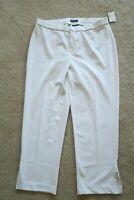 - NEW Womens Pants 0X (14W - 16W) Catherines black label comfort waist white