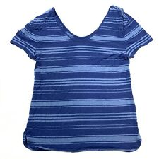 GAP Body women's small short sleeve scoop neck shirt striped