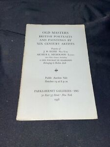 Old Masters Paintings, Rembrandt  ++ 1948 Parke-Bernet Art Auction Catalog