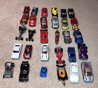 Lot of 30 Cars Loose Mostly Hot Wheels Years Vary