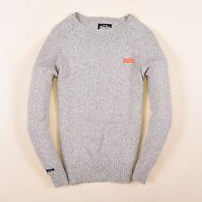 Superdry señores suéter Sweater punto talla s premium goods gris 84894