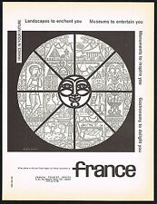 1957 Vintage France French Tourism Travel Alain Cornic Art Print Ad