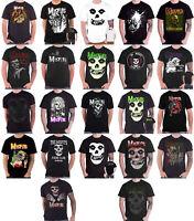 Official  Misfits T Shirt Fiend Skull Band Logo Die Die My Darling Mens New
