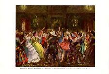 Costume party in Malkasten Dusseldorf XL 1926 art print by Adolf Munzer carnival