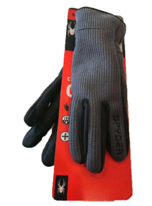 Spyder Men's Core Conduct Glove Material for Touchscreen Grey