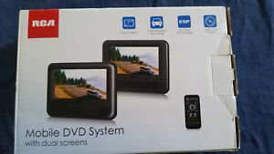 """RCA MOBILE DVD SYSTEM WITH DUAL SCREENS DUAL 7"""" SCREENS"""