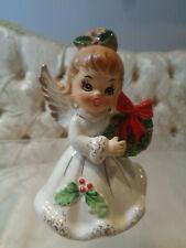 "Josef Originals Christmas 'Holly"" Angel w/wreath figurine"