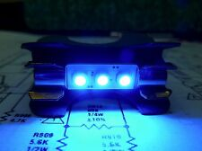 6 X Cool Blue 3 LED Fuse Lamps for PIONEER SX-626 Vintage Stereo Parts Repair