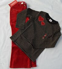 Gymboree Glamour Kitty NEW size 5 girls clothes Valentine's outfit heart holiday