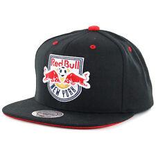 "Mitchell & Ness ""Solid Velour"" New York Red Bulls Snapback Hat (Black) MLS Cap"