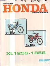 HONDA  XL125S XL185S  SERVICE REPAIR WORKSHOP MANUAL  1980 DAMAGED UNUSED
