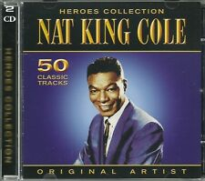 NAT KING COLE HEROES COLLECTION - 2 CD BOX SET - ORIGINAL ARTIST