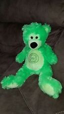 """18"""" Dave and Busters D&B Electric Green Bear Plush Stuffed Animal VHTF so soft"""