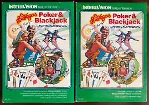 Las Vegas Poker & Blackjack from Mattel Electronics for Intellivision CIB-signed