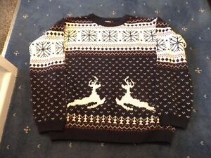 """Ladies Christmas Jumper from Boohoo. Size Large (approx 40"""" chest measurement)"""