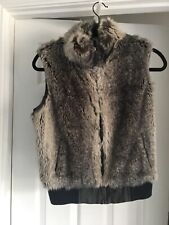 Amazing Phase Eight Grey & Brown Faux Fur Gillet  UK12