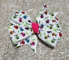 3inches lady bug Pinwheel Hair bow nonslip Alligator Clip