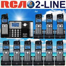 RCA 25252 DECT 6.0 2-LINE 10 CORDLESS PHONES WITH 2-LINE ANSWERING MACHINE