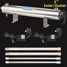110W Ultraviolet Light Water Purifier 24GPM UV Sterilizer Large Home Commercial