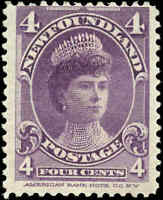 1901 Canada Mint H Newfoundland 4c F Scott #84 Stamp