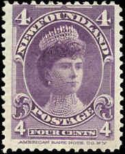 1901 Canada Mint Newfoundland 4c F Scott #84 Stamp Hinged