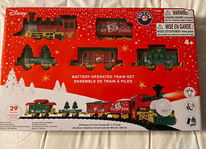 Disney Lionel Model Train Set Battery Opetated 29 pcs Mickey Mouse Christmas