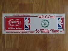 33rd NBA All Star Game BOSTON CELTICS Miller Time STICKER DECAL Dr Julius Erving