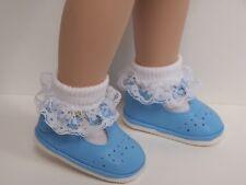 "SKY BLUE Old Fashion T-Strap Tstrap Doll Shoes For Tonner 18"" Ann Estelle DEBs"