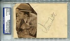 JIMMY DURANTE Vintage Signed w Photo THE SCHNOZ Inka Dinka Doo d.1980 PSA/DNA