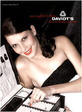 Publicité Contemporaine  Coffret à Bijoux   Davidt's   2009  Bac