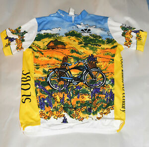San Luis Obispo Bicycle Club Voler Jersey~2006 Wildflower Century~Full Zipper~XL