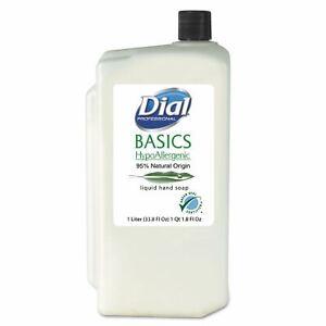 Dial 06046 Basics Liquid Hand Soap, Rosemary & Mint, 1000ml Refill, 8/carton