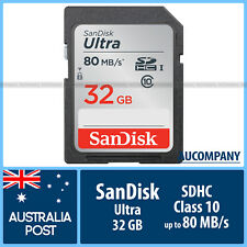 SanDisk Ultra 32 GB 32G SD SDHC Class C 10 UHS-1 Memory Card Speed Up To 80MB/s
