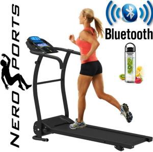 Treadmill Running Machine Folding Electric BLUETOOTH ADJUSTABLE INCLINE NERO PRO