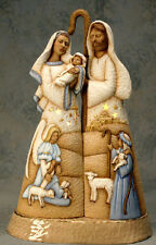 Ceramic Bisque Ready to Paint Tall Nativity Set with light kit