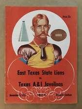 TEXAS A&I UNIVERSITY  @ EAST TEXAS STATE COLLEGE FOOTBALL PROGRAM  1955 EX