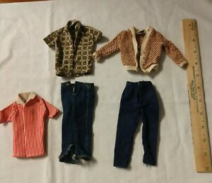 Vintage Lot of 5 Ken Doll Clothes From the 1960's